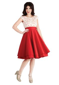 Essential Elegance Skirt in Red, #ModCloth 69.99