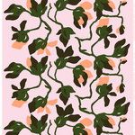 Marimekko's Mielitty fabric in pink, peach and green is adorned with a beautiful floral pattern by Finnish artist Paavo Halonen Pattern Art, Print Patterns, Marimekko Fabric, Peach And Green, Textile Prints, Textiles, Art Academy, Nordic Design, Repeating Patterns