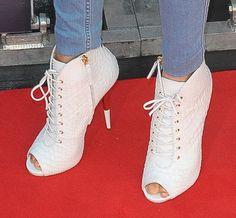 Alesha Dixon wearing Giuseppe Zanotti croc booties
