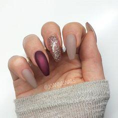 acrylic wine nails