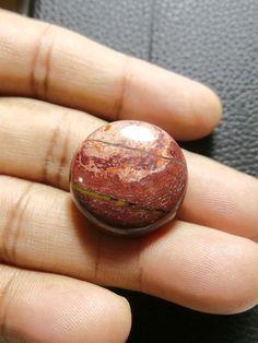 Natural Snakeskin Jasper Round, Smooth Round Cabochon, Gemstone- 24x24x7 MM Size Round Shape  Loose Gemstone-Jewellery Supply-Wholesalegems