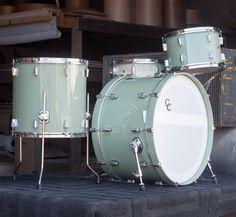 Menta green in high gloss lacquer // C&C Beat Em Up, John Bonham, Music Aesthetic, Drum Kits, Drummers, Percussion, Music Stuff, Lamborghini, High Gloss