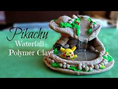 Pokémon Pikachu + Waterfall ♥ Polymer Clay Tutorial