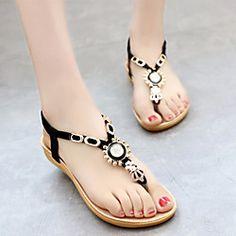 Women's Shoes Customized Materials Flat Heel Flip Flops Sandals Casual  White/Beige