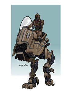 Eric Lofgren Presents: Personal Transport Walker - Misfit Studios | Eric Lofgren | Publisher Resources | DriveThruRPG.com Privateer Press, White Wolf, Stock Art, Art File, Misfits, All Art, Art Images, Darth Vader