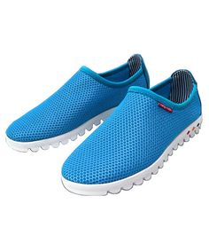 Blue Mesh Slip-On Trainers from Chicnova