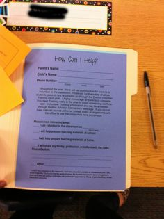 meet the teacher student information