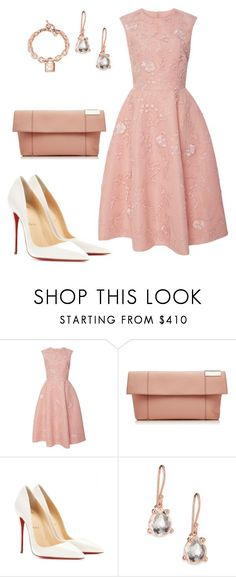 Styles featuring Monique Lhuillier, Christian Louboutin, Victoria Beckham, Ippolita and Michael Kors Komplette Outfits, Classy Outfits, Fashion Outfits, Womens Fashion, Fashion Trends, Fashion News, Fashion Shoes, Jw Mode, Mode Glamour