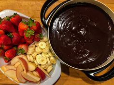 The easiest and most delicious chocolate fondue ever!