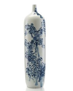 John Richard Tall Slender Blue & White Jar