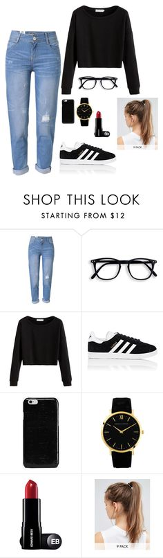 """Mariana"" by briquel13287 ❤ liked on Polyvore featuring WithChic, adidas, Maison Margiela and NIKE"