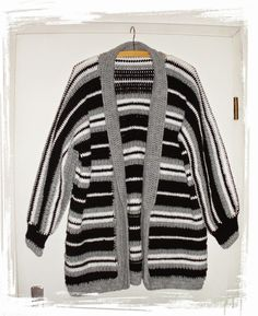 Mantel Jacke, kostenlose Häkelanleitung, Free crochet pattern Cardigan