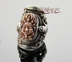Tibetan Mahakala Buddha Finger Ring