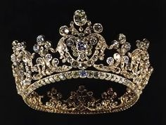 Tiara of Queen Pauline of Württemberg Royal Crowns, Royal Tiaras, Crown Royal, Tiaras And Crowns, Antique Jewelry, Vintage Jewelry, Queens Tiaras, Diamond Tiara, Family Jewels