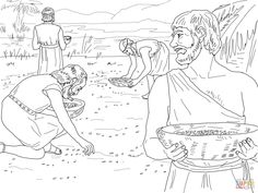 bible coloring pages domain manna quail from