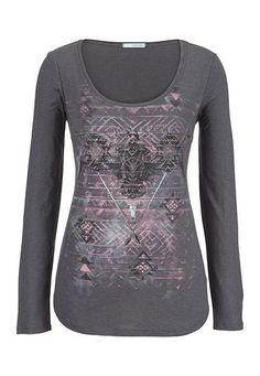 ethnic and rhinestone graphic print top (original price, $29) available at #Maurices