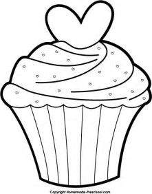cupcake filing clip art and outlines rh pinterest com cupcake outline clip art free Cupcake Clip Art Black and White