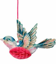 "Beautiful Honeycomb Birds will add height, testure and depth to any room! 6"" paper honeycomb birds. 3 in a pack."