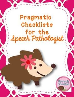 This is a quick and easy way to provided you with an informal pragmatic language assessment for your speech folders. This is a nice companion to your speech evaluations!This product includes the following: Preschool Pragmatic Checklist Pragmatic Checklist (for school age) Parent Pragmatic Checklist Pragmatic IEP Goals (two pages)The goals are aligned to ASHA's areas of pragmatic language.