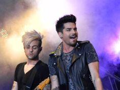 Adam Lambert and Tommy Joe Ratliff in concert in Orlando
