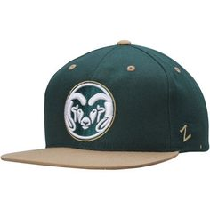 24e21f1a1c1 Zephyr Colorado State Rams Green Gold Z11 Snapback Adjustable Hat
