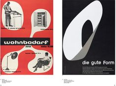Iconic posters Wohnbedarf by Max Bill and Die Gute Form by Emil Ruder. Norm extracted elements for the ticket designs. Ticket Design, Swiss Style, Max Bill, Case Study, Books, Posters, Modernism, Image, Flyers