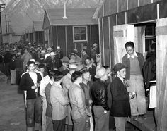 Internees wait in line for their housing assignments at a camp in Manzanar, Calif., in On Friday, a ceremony at the Painted Bride will. Nagasaki, Hiroshima, Us Army General, Douglas Macarthur, Leyte, Iwo Jima, Japanese American, World War Ii, American History