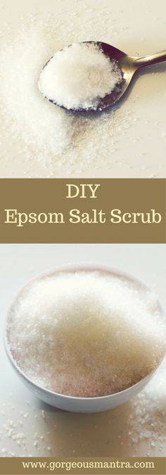 Try this DIY Epsom Salt Scrub for smoother, softer skin. Epsom Salt is a gentle … Try this DIY Epsom Salt Scrub for smoother, softer skin. Epsom Salt is a gentle exfoliant and provides relief from muscular pain. Salt Scrub Recipe, Salt Face Scrub, Diy Face Scrub, Body Scrub Recipe, Hand Scrub, Sugar Scrub Diy, Face Scrub Homemade, Diy Scrub, Exfoliating Body Scrub Diy