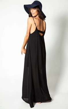 Shake It Out maxi in black
