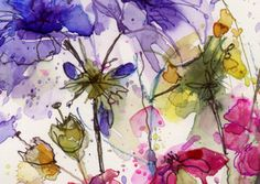watercolour flowers, Kathy Lewis