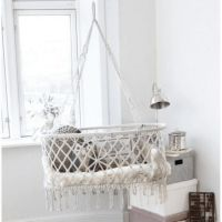 Závesná kolíska, biela, LULABI Hanging Bassinet, Baby Bassinet, Make A Change, Baby Grows, Cribs, Boho Chic, Bed Pillows, Modern, Furniture
