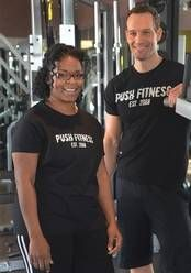 The four days I spent at Push Fitness in Schaumburg this week challenged me mentally and physically, and the time helped me to gain more determination, will and grit than I thought possible, says Lisa Townsel, here with her trainer, Joshua Steckler.