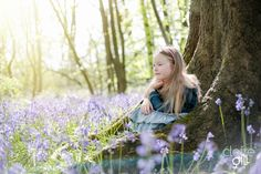 Child portrait session in the bluebell woods. http://clairegill.photography