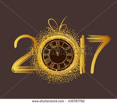 new year s eve background pictures 2017   Happy New Year 2019 Images     2017 Happy New Year background with gold clock