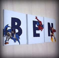 cute personalized superhero name signs!