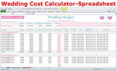 10 best wedding budget spreadsheet planner images on pinterest