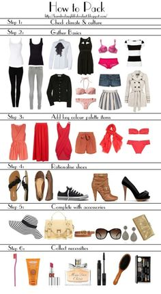 How to Pack for honeymoon or lovely vacation with your honey :)