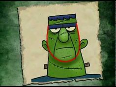 Drawing Dr. Frankenstein's monster with the letter U