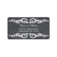 Vintage Chalkboard Address Label | Address labels | Pinterest ...