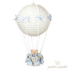 DIY HOT-AIR BALLOON LAMP from cheap ikea Paper lantern, a basket, string, bows etc.