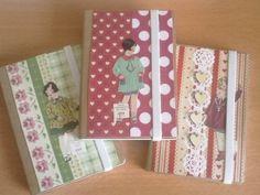 Cute notebooks made from scrap paper!