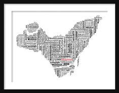 Montreal Map Typography Map Poster Print