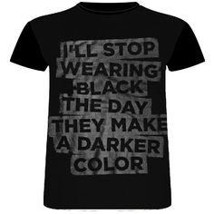 Herenshirt Black Qoute | T-shirt heren black |