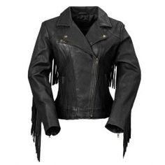 500f7a928e782 Women s Leather Jacket - Fringed Motorcycle Jacket