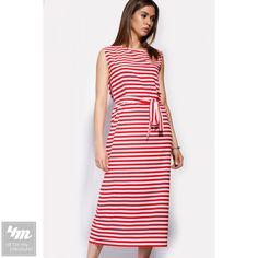 Платье Cardo «DALIA»  Для выбора цвета и размера - перейдите в интернет-магазин: http://lnk.al/25tX Состав: Вискоза - 50%, Полиэстер - 50%(блузочная вискоза)  Длинное нежное платье легко скрасит фигуру современной модницы. Платье в горизонтальную ментоловую полоску выполнено из блузочной вискозы, которая не тянется. Наряд сшит в свободном крое и красиво подпоясывается пояском из ткани. Без пояса это платье также смотрится великолепно. Застежек нет.  На модели 44 размер. Рост модели 177см…