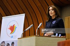 --Nov 6, 2014--Crown Princess Mary of Denmark speaks during the regional review meeting of the status of women in the UNECE region 20 years after the Beijing platform for action held at the United Nations Office at Geneva on November 6, 2014 in Geneva, Switzerland.