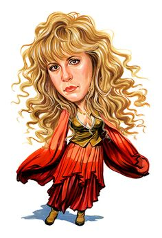 Stevie Nicks ( Fleetwood Mac ) ...artwork by ExaggerArt ▫