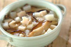 シイタケのうまみたっぷり。身体にやさしいスープ。