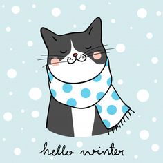 Draw black cat in winter season doodle cartoon style Premium Vector- Draw black cat in winter season doodle cartoon style Premium Vector Cartoon Cartoon, Doodle Cartoon, Cartoon Styles, Cartoon Drawings, Black Cartoon, Winter Cat, Winter Kids, Winter Snow, Christmas Cartoons