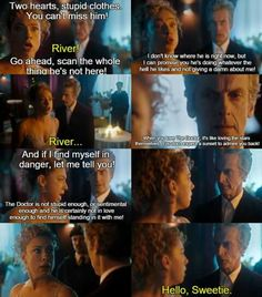 I love this scene, and it broke my heart. River really thought the Doctor didn't actually love her... :'(